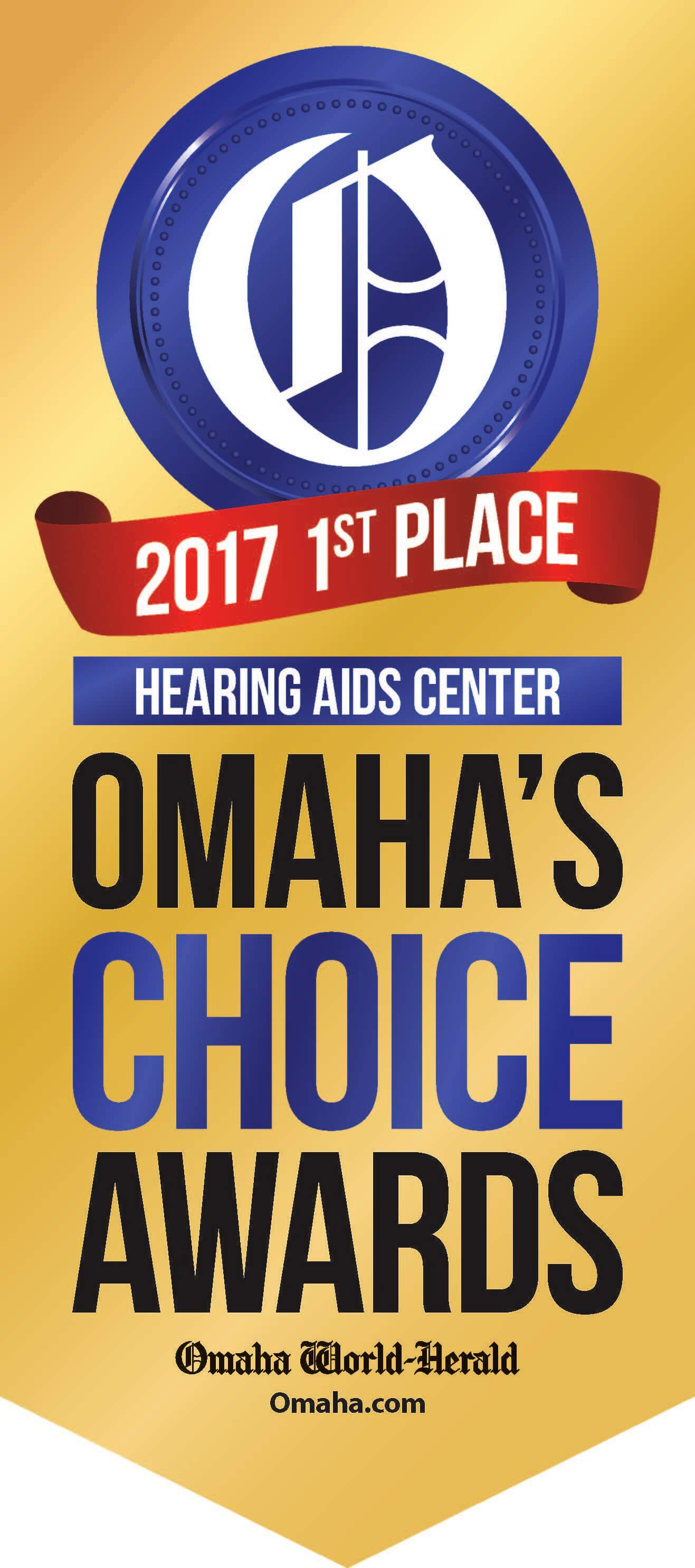 2017 Omahas Choice Awards 1st Place (Hearing Aids Center)(1)